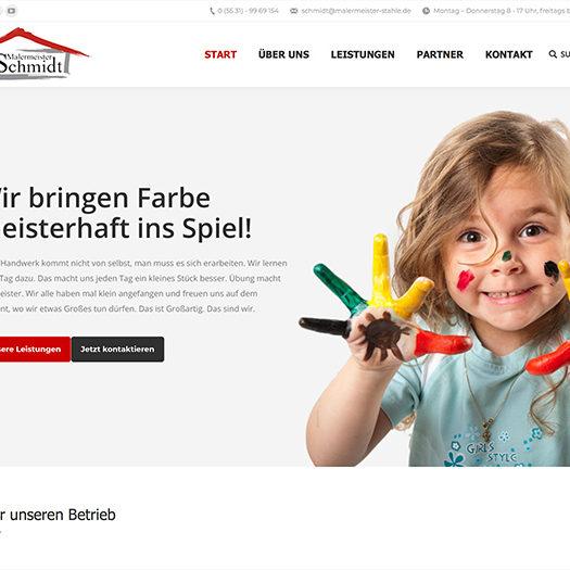 Webseiten Beispiel Malermeister Schmidt